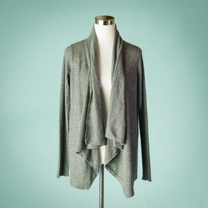 Vince M Gray Wool Cashmere Open Cardigan